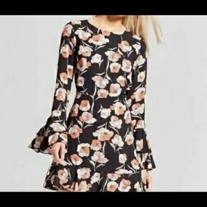 Women's Who What Wear Black Floral Dress